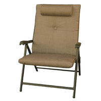 17-2503 - Prime Products Folding Chair with Headrest - Mojave Desert Taupe - Image 1