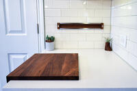 ?Cutting Board And Magnetic Knife Holder Chop Combo In Walnut