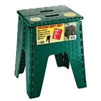 17-2273 - E-Z FOLDZ - Single Step Step Stool - Foldable - Forest Green - Plastic - Image 1