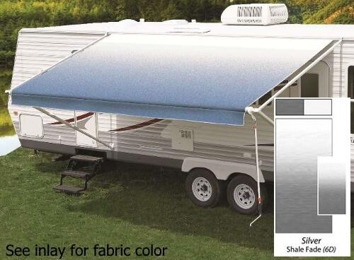 16' Universal Awning Replacement Fabric - Silver Fade with Weatherguard
