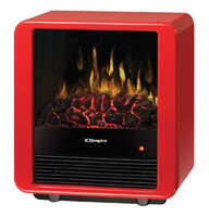 Mini Cube Electric Heater With Imitation Fireplace