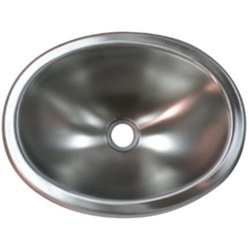 88-2524 - 10X13 Oval Stainless Steel Sink - Image 1