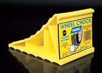 wheel chocks, lightweight plastic