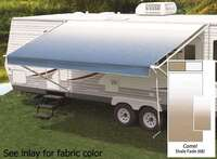 21' Universal Awning Replacement Fabric - Camel Fade with Weatherguard