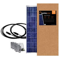 19.6422 - Samlex Solar Panel - 150 Watt - W/Brackets & Wires - Image 1