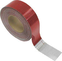 "2"" Red/White Reflective Tape, 150' Roll"