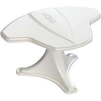 KING JACK TV ANTENNA - ROOF MOUNT - NO CRANKUP - WHITE