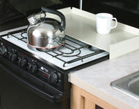 White Stove Top Cover