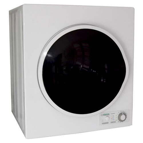 Comp Dryer White W/Silv