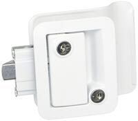 Fastec Industrial FIC Travel Trailer Lock (with Keyed Deadbolt) - White