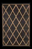 Faulkner 68900 Reversible RV Outdoor Patio Mat - Black & Beige Diamond Design - 8' X 20'
