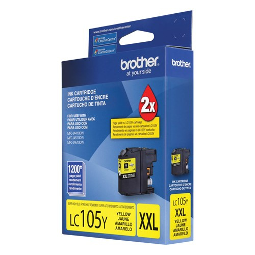 Brother LC105YS Innobella  Yellow Ink Cartridge, Super High Yield (XXL Series)