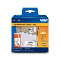 "Brother DK1241 Large Shipping Labels (200 Labels)   4"" x 6"" (101 mm x 152 mm)"