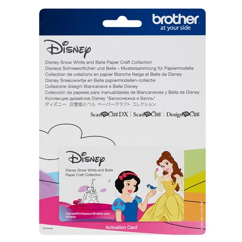 Brother CADSNP06 Disney Snow White and Belle Paper Craft Collection