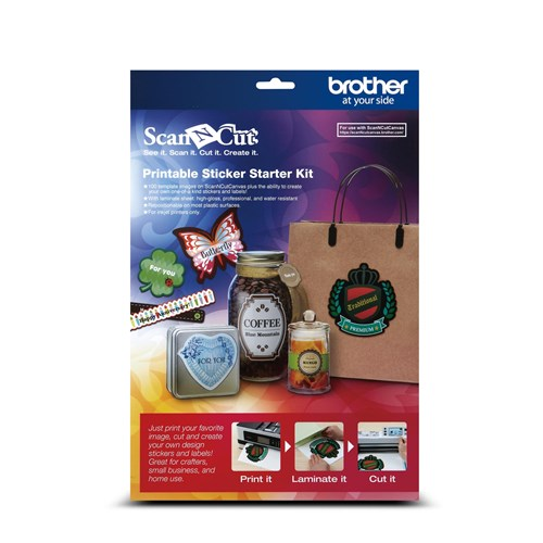 Brother CAPSKIT1 Printable Sticker Starter Kit