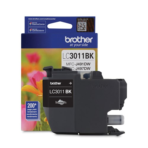 Brother LC3011BKS Black Ink Cartridge, Standard Yield