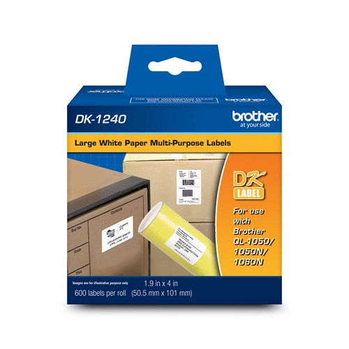 Brother DK1240 Large Multi-Purpose Labels (600 Labels)   1.9
