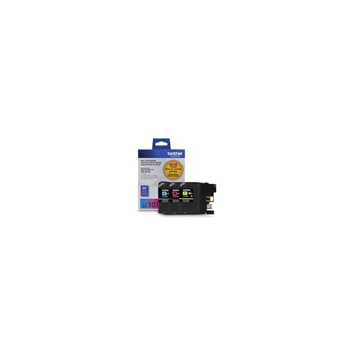 Brother LC1013PKS 3-Pack of Innobella  Colour Ink Cartridges, Standard Yield (1 each of Cyan, Magenta, Yellow)