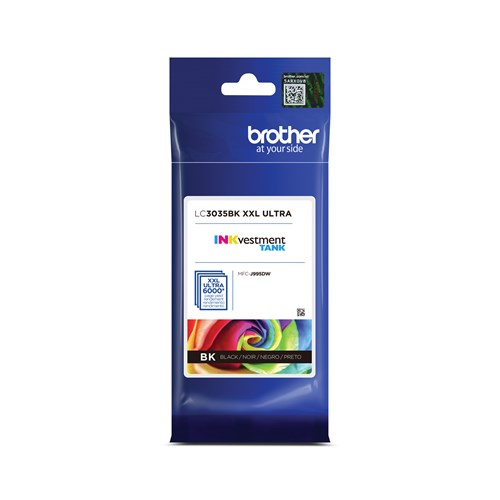 Brother LC3035BKS INKvestment Tank Black Ink Cartridge, Ultra High Yield
