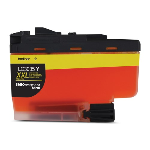 Brother LC3035YS INKvestment Tank Yellow Ink Cartridge, Ultra High Yield