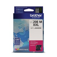 Brother LC20EMS INKvestment Super High Yield (XXL Series) Magenta Ink Cartridge