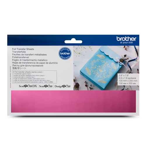 Brother CAFTSPNK1 Foil Transfer Sheets Pink