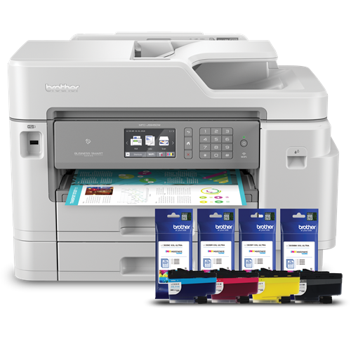 Brother RMFC-J5945DW Refurbished INKvestment Tank Colour Inkjet All-in-One Bundle with LC3037CMYK Super High-Yield In-box Ink and LC3039CMYK Ultra High-Yield Bundled Ink