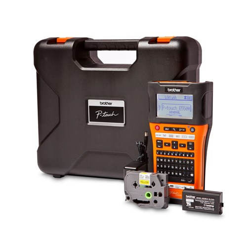 Brother PT-E550WVP Advanced Industrial Handheld Labeller with Wireless and Computer (USB) Connectivity