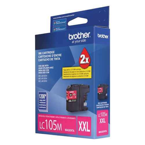 Brother LC105MS Innobella  Ink Cartridge   Magenta, Super High Yield (XXL Series)