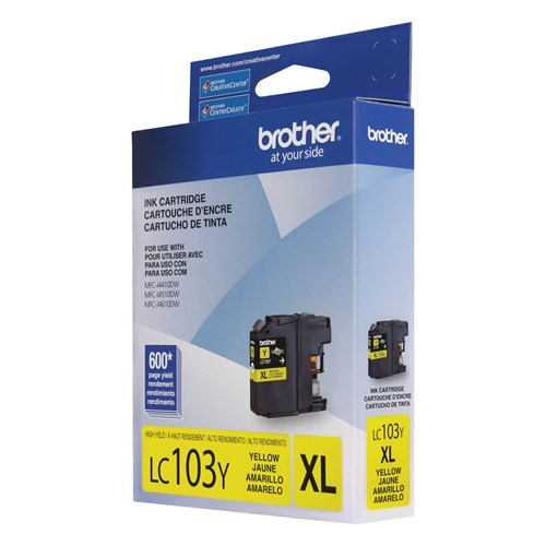 Brother LC103YS Innobella  Yellow Ink Cartridge, High Yield (XL Series)