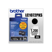 Brother LC1072PKS 2-Pack of Innobella  Black Ink Cartridges, Super High Yield (XXL Series)