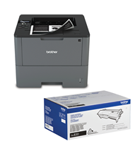 Brother BUNDHLL6200DW Business Monochrome Laser Printer - Bundle