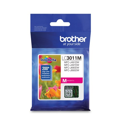 Brother LC3011MS Magenta Ink Cartridge, Standard Yield