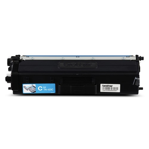 Brother TN433C Cyan Toner Cartridge, High Yield