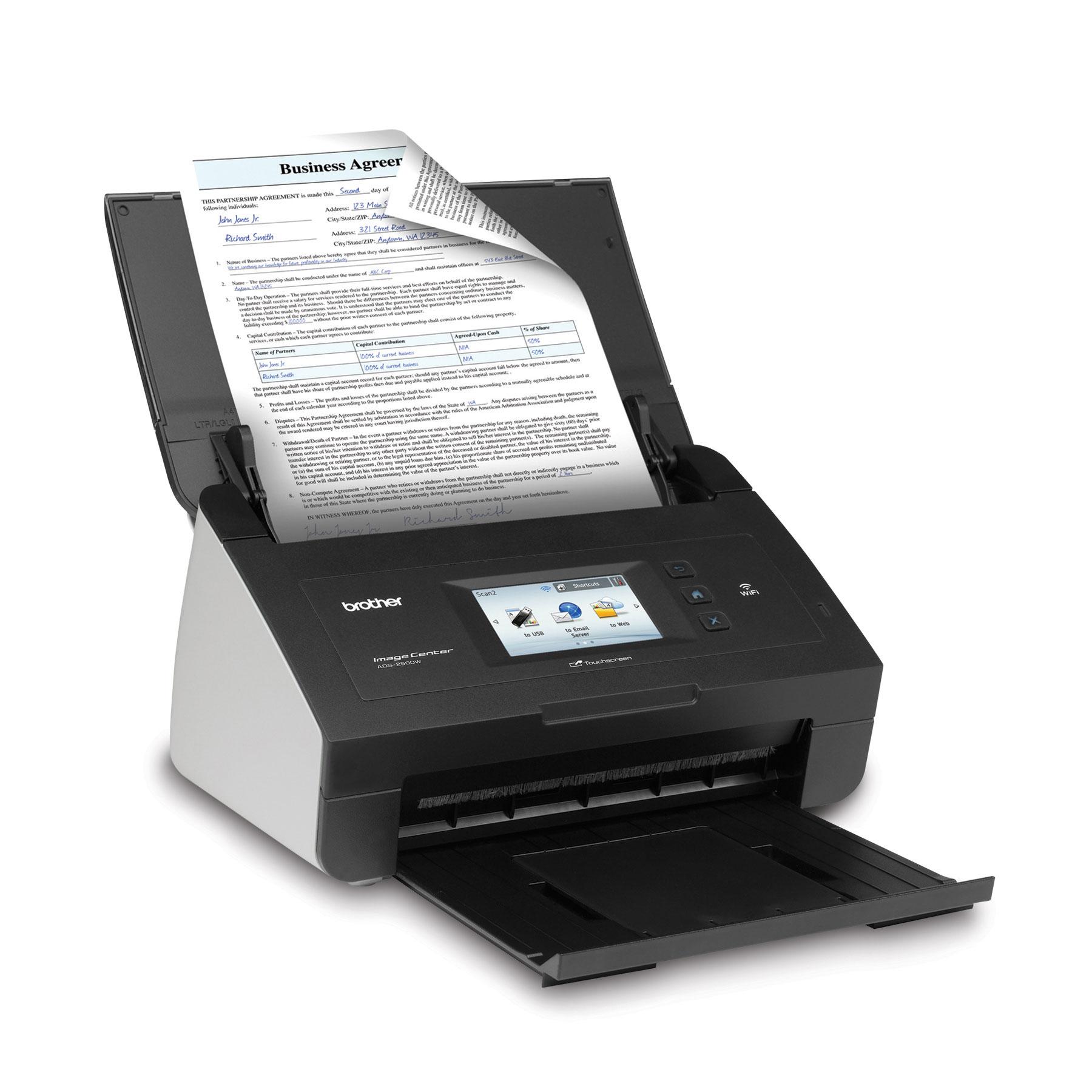 Scanner de bureau couleur haute vitesse ADS2500W de Brother