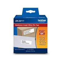 "Brother DK2211 Black on White Continuous Length Film Tape   1.1"" x 50' (29 mm x 15.2 m)"