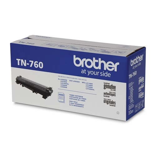Brother Genuine TN760 High Yield Mono Laser Toner Cartridge