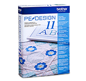 Brother PEDESIGN11 embroidery and sewing digitizing software