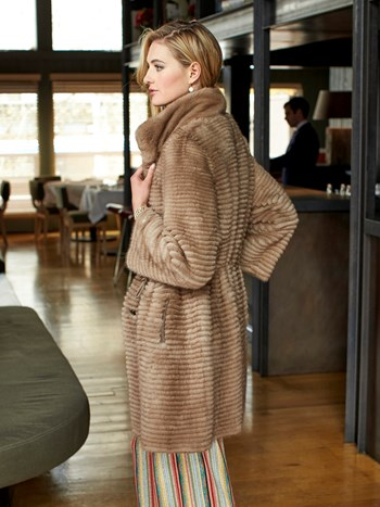 ainsley reversible mink coat