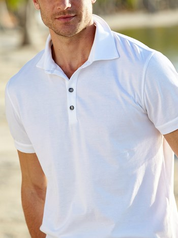 jase cotton pique polo shirt