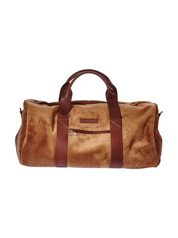 suede/buffalo duffle bag
