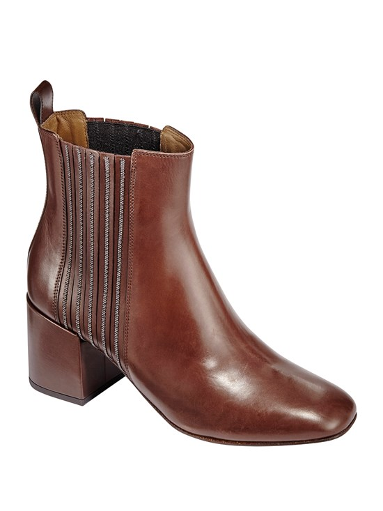 leather monili chelsea boot