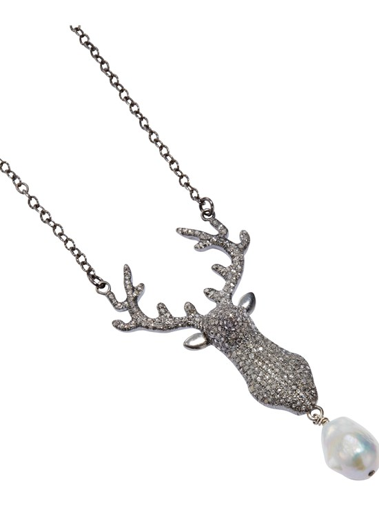 ramona stag white necklace