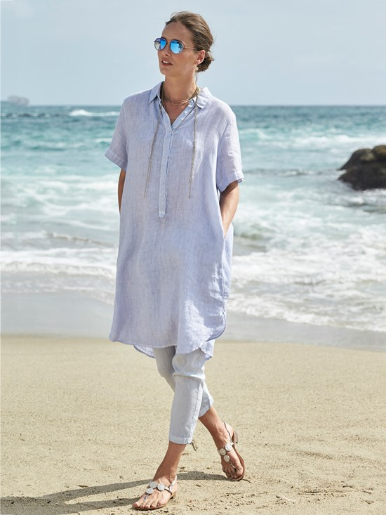 lexia essential linen dress