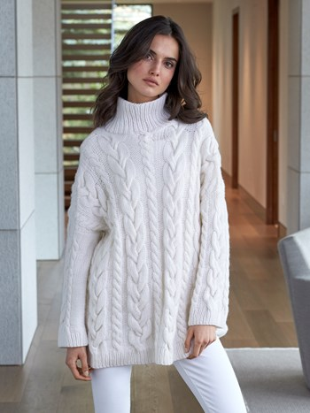 mission cashmere cable sweater