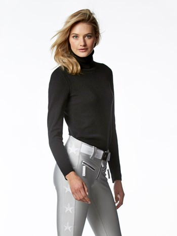 luxe layer cashmere turtleneck sweater