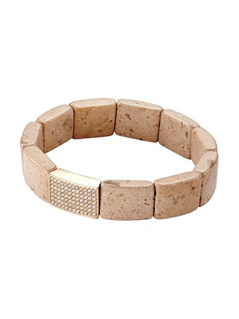 rectangular riverstone spacer bracelet