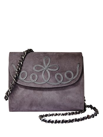 erna velour handbag