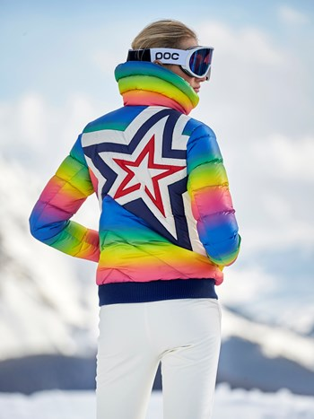 super star neon down ski jacket