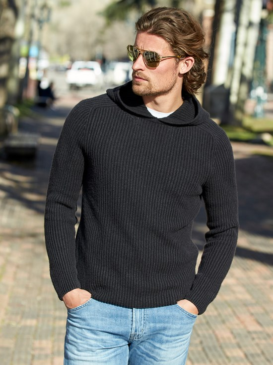 dalton cashmere hooded sweater